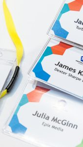 Name badges.